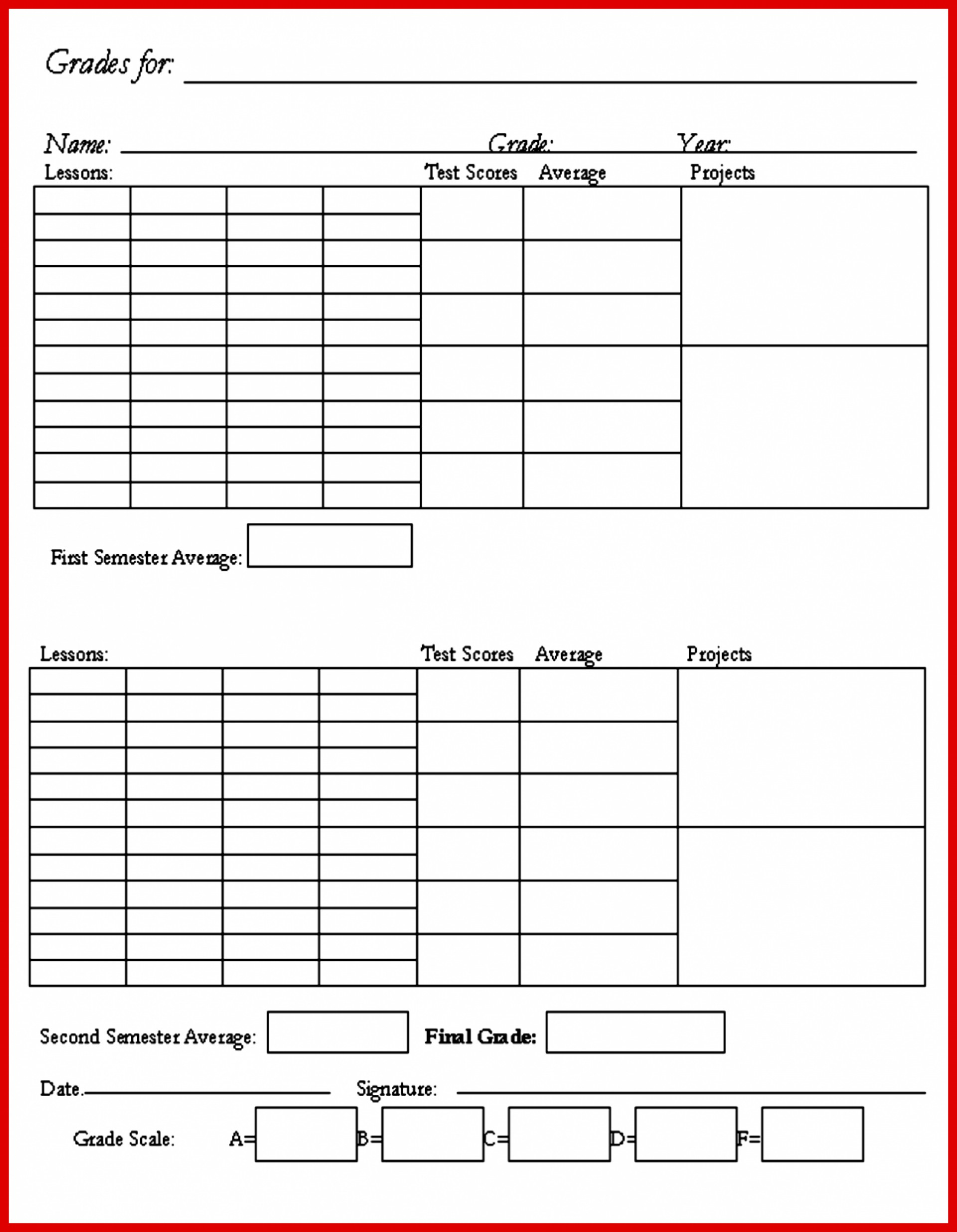 002 Free Report Card Template Exceptional Ideas Pdf Printable - Free Printable Kindergarten Report Cards
