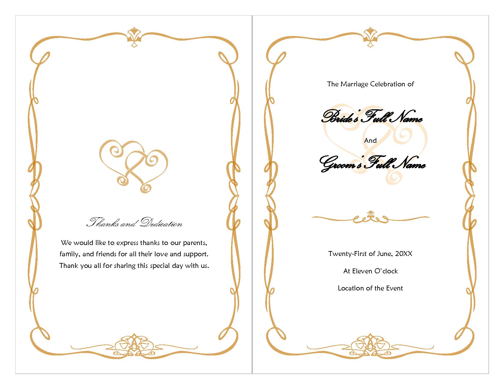005 Free Wedding Program Fan Templates Template Ideas Excellent - Free Printable Wedding Program Templates Word