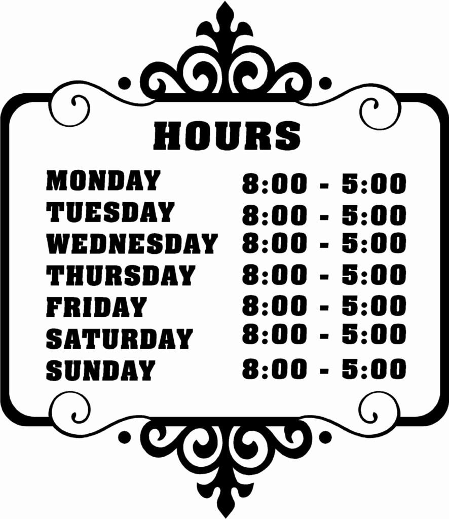 008 Business Hours Template Microsoft Word Elegant Best Of Printable - Free Printable Business Hours Sign