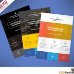 009 Free Printable Flyer Templates Business Flat Clean Corporate Psd   Create Free Printable Flyer