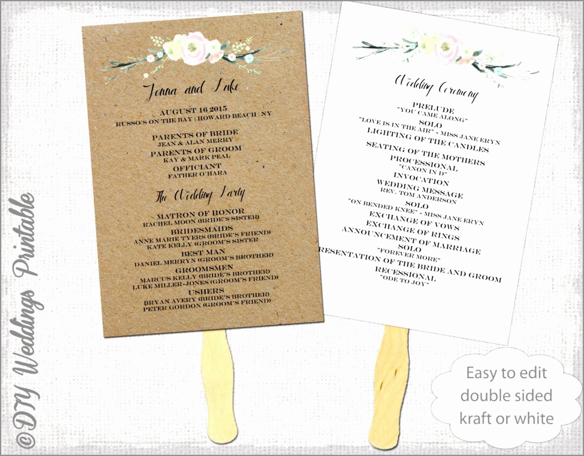 010 Free Wedding Program Fan Templates Beach Fans New You Can - Free Printable Wedding Fan Templates