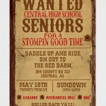 017 Template Ideas Free Wanted Poster Printable Western Party   Free Printable Wanted Poster Invitations