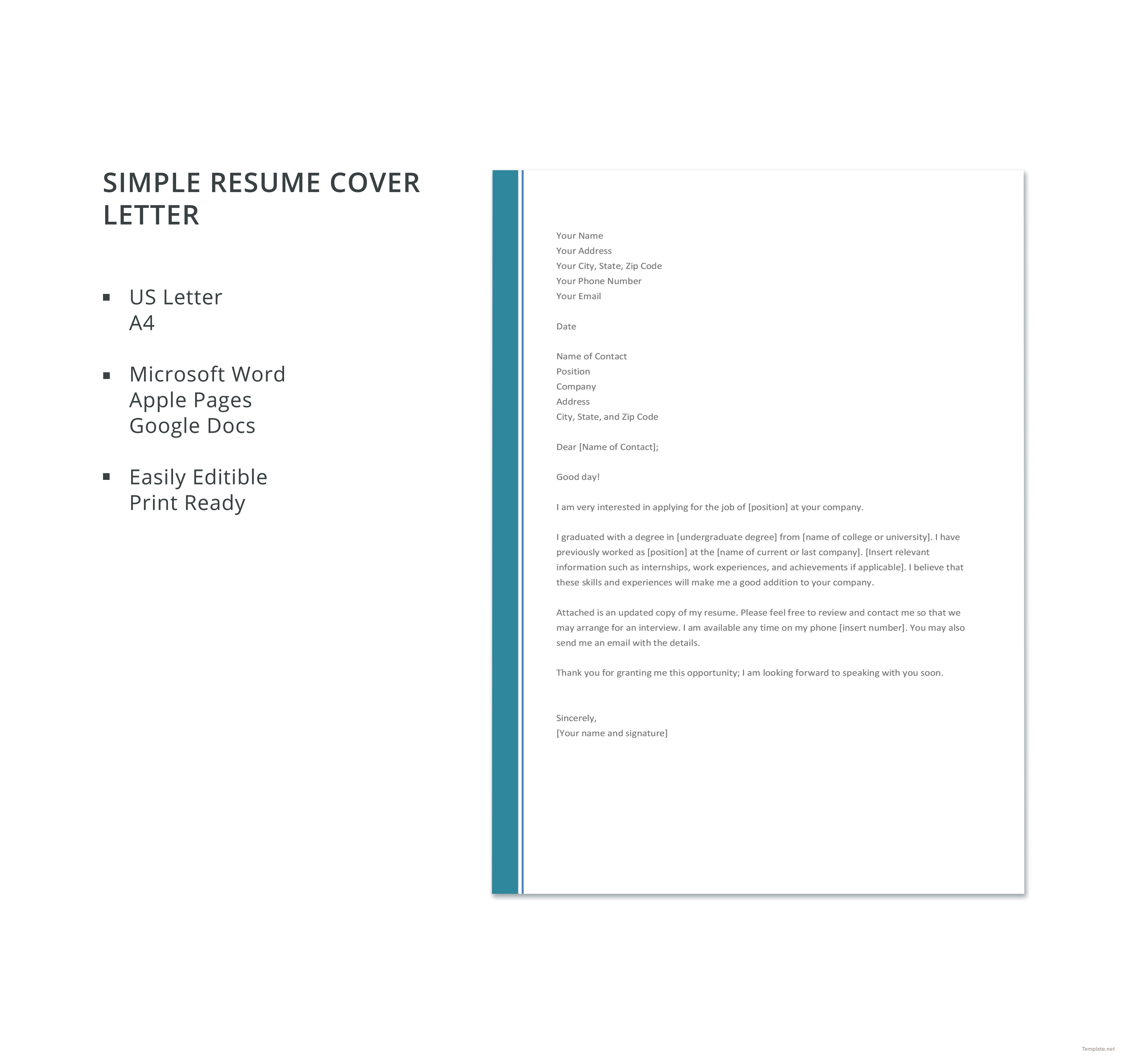 024 Resume And Cover Letter Template Simple Wondrous Ideas Nursing - Free Printable Resume Cover Letter Templates