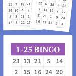 1 25 Bingo | Diy | Alphabet Bingo, Bingo Cards, Bingo   Free Printable Bingo Cards With Numbers