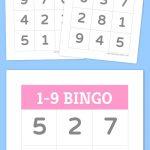 1 9 Bingo | Numbers | Bingo For Kids, Bingo, Free Printable Bingo Cards   Free Printable Bingo Cards With Numbers