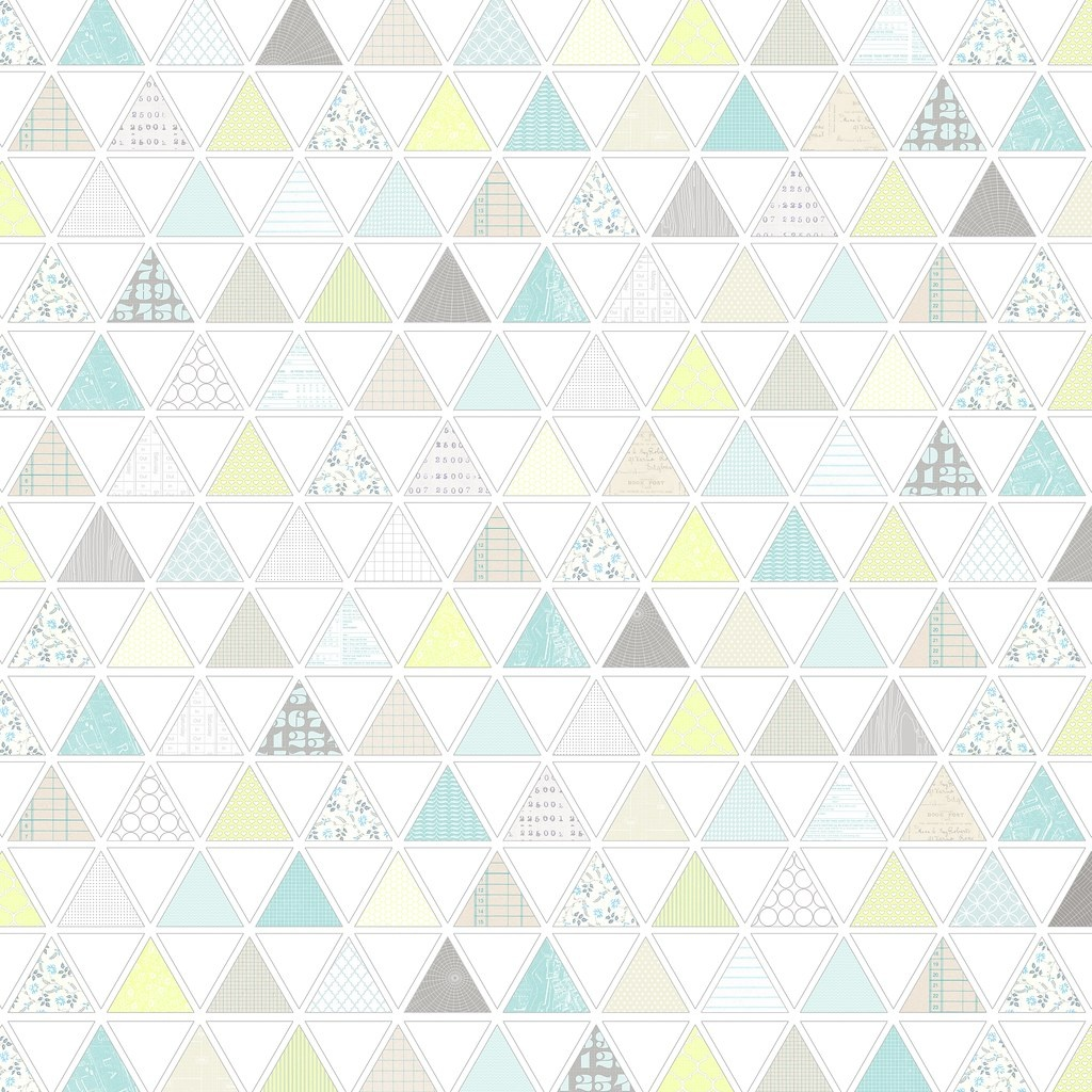 1 Pattern-Filled Triangles - Free Printable Digital Patter… | Flickr - Free Printable Paper