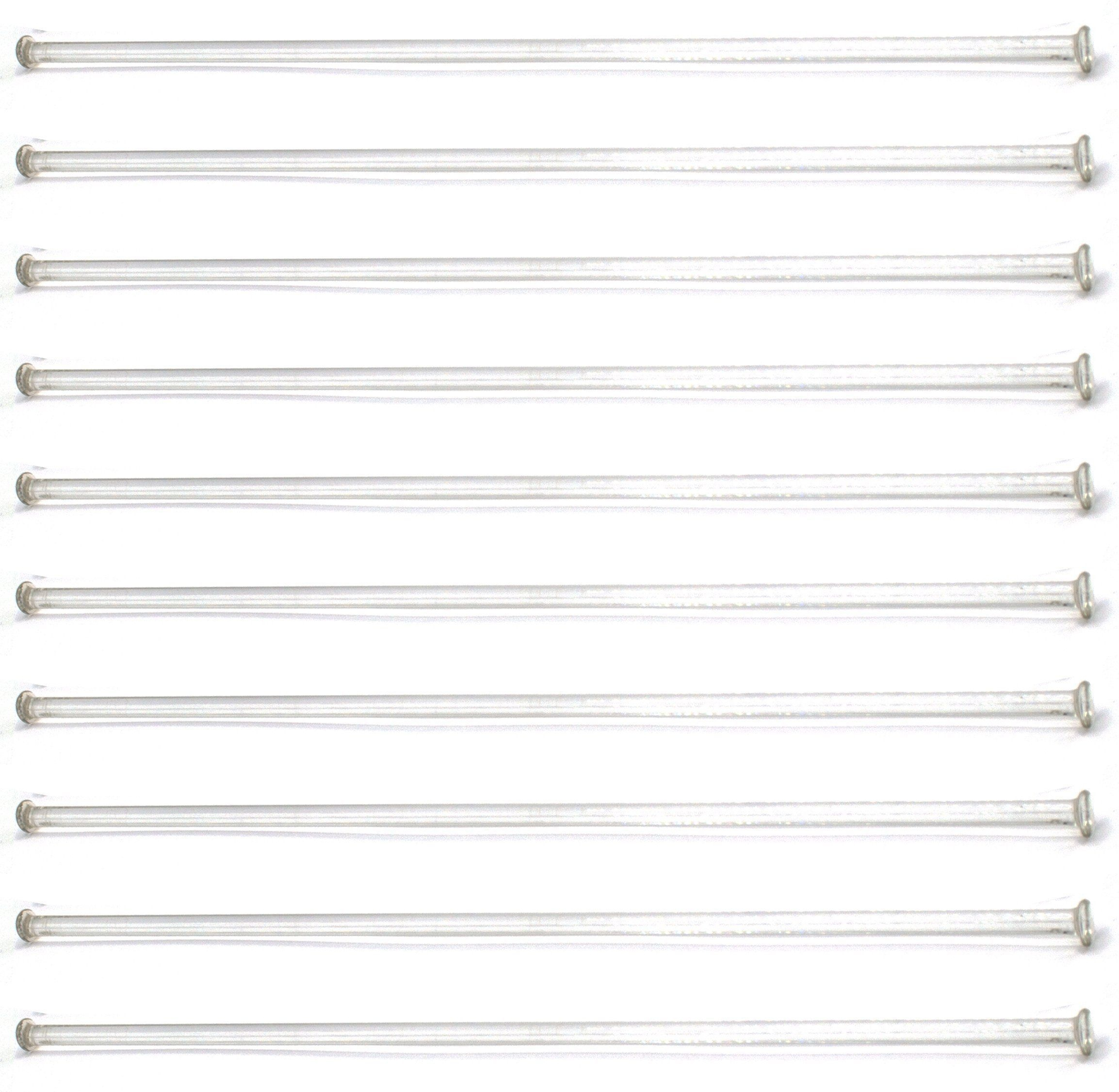 "10-Pack Of 12"" (30Cm) Stirring Rod - Glass With Button Ends 