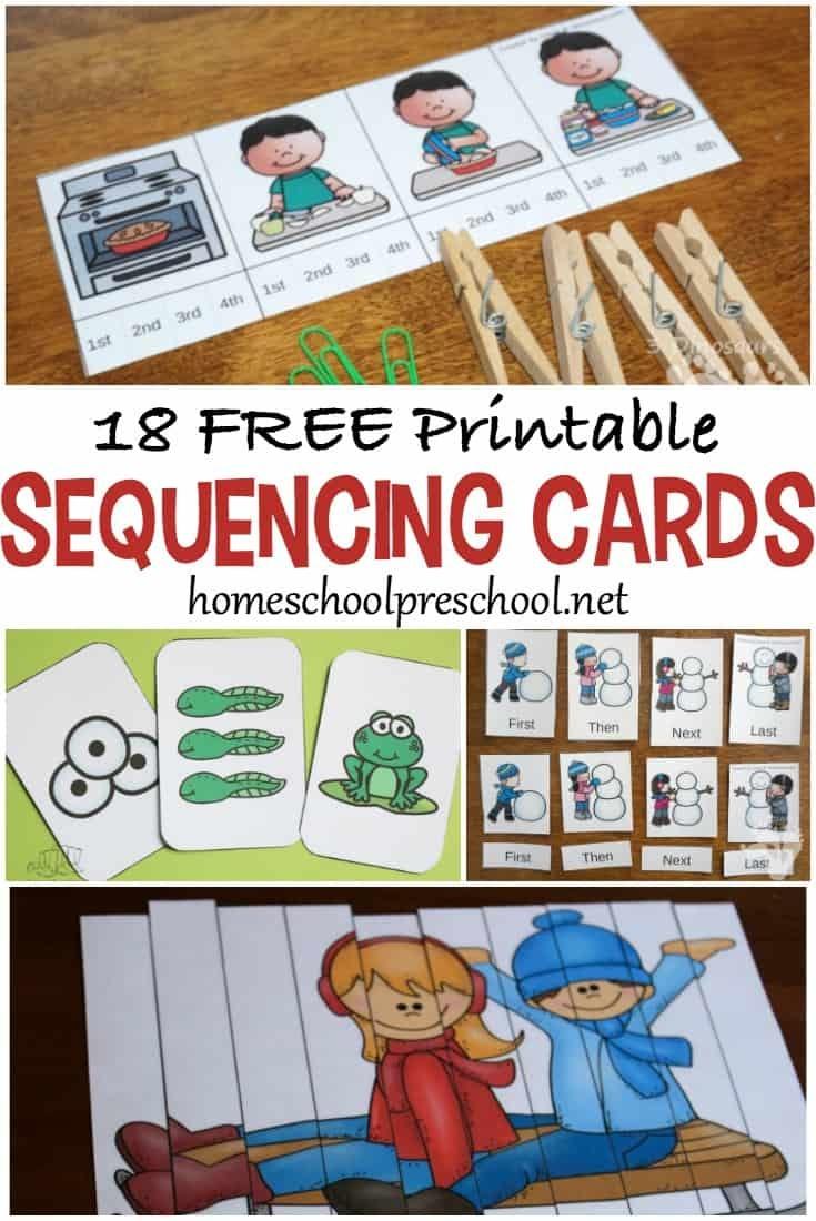 10 Story Sequencing Cards Printable Activities For Preschoolers - Free Printable Stories For Preschoolers