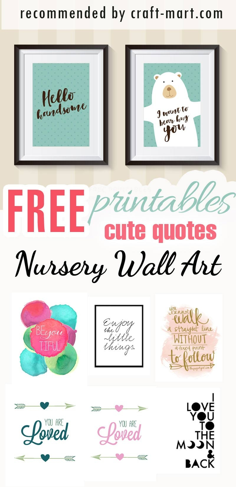 100+ Best Free Nursery Printables And Wall Art - Craft-Mart - Free Printable Wall Posters