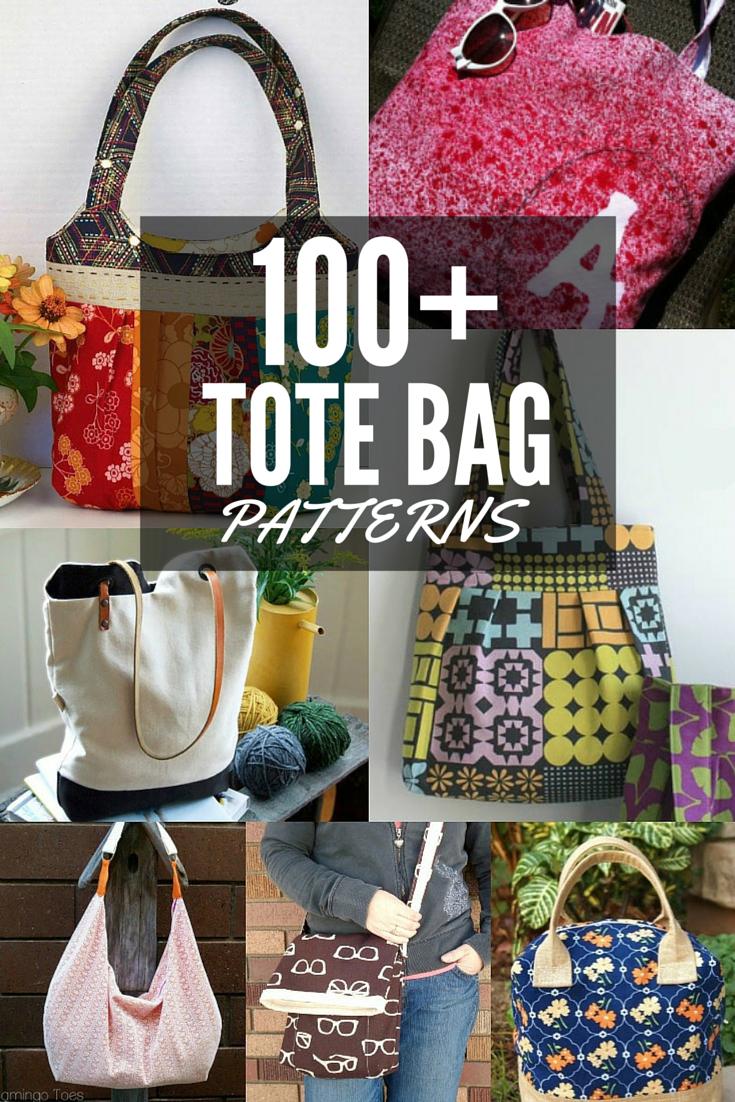 100+ Free Tote Bag Patterns | Round Up - The Sewing Loft - Handbag Patterns Free Printable
