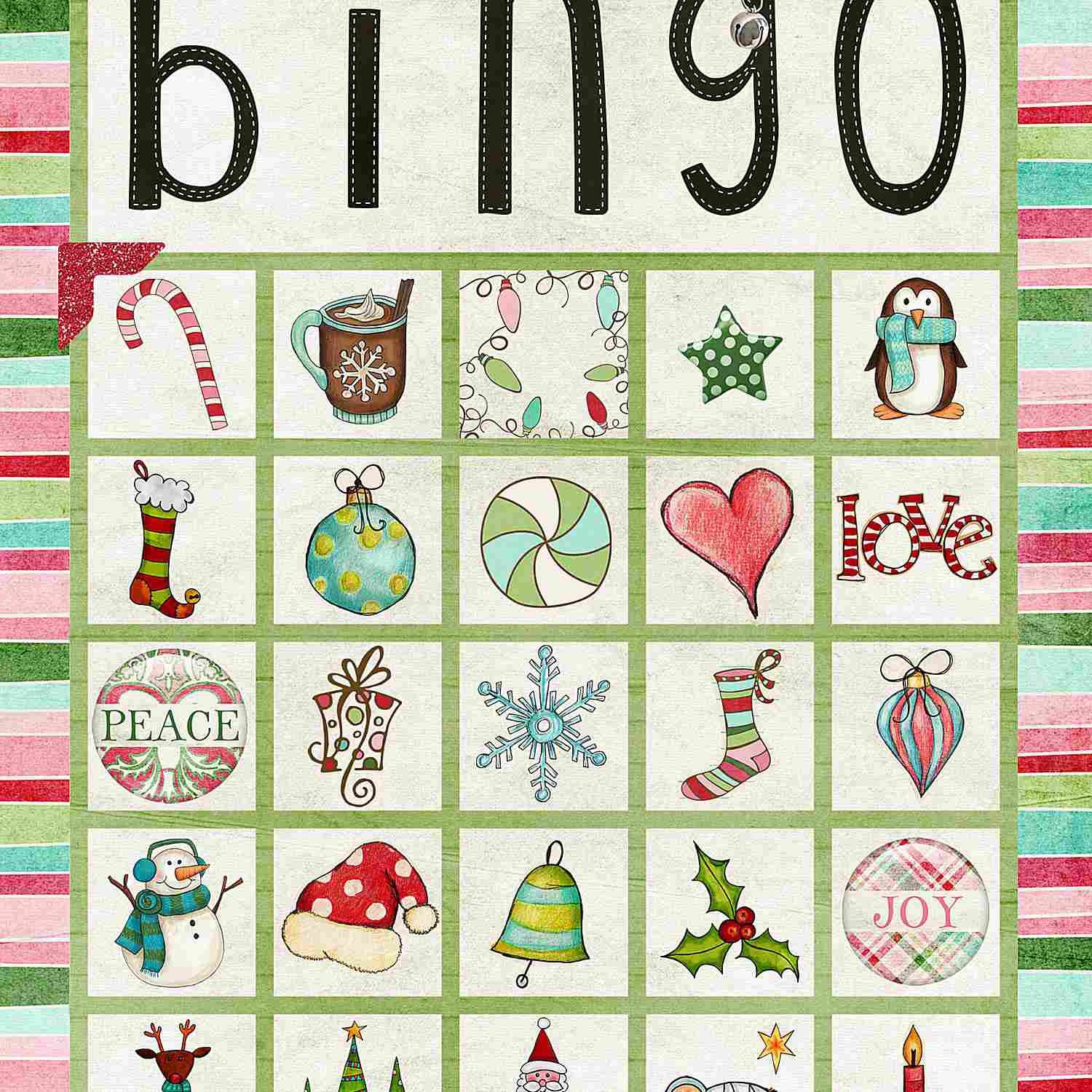 11 Free, Printable Christmas Bingo Games For The Family - Free Printable Christmas Bingo