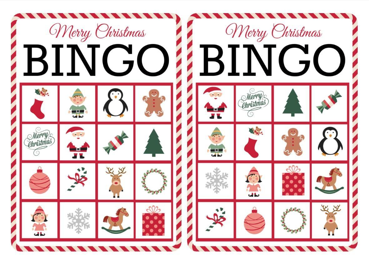 11 Free, Printable Christmas Bingo Games For The Family - Free Printable Xmas Cards Download