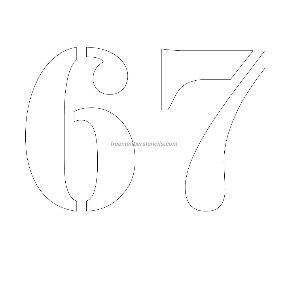 11 Inch Numbers Archives - Freenumberstencils - Free Printable 4 Inch Number Stencils