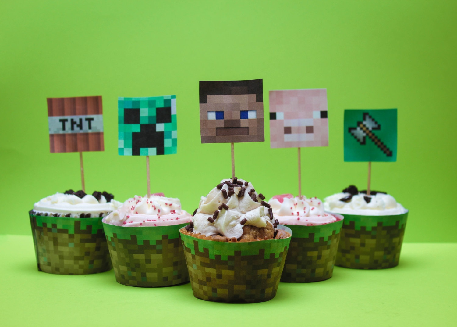 12 Best Photos Of Minecraft Printable Cupcake Wrappers - Free - Free Printable Minecraft Cupcake Toppers And Wrappers