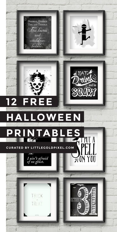 12 Free Halloween Printables | Free Printables | Halloween - Free Printable Halloween Decorations Scary