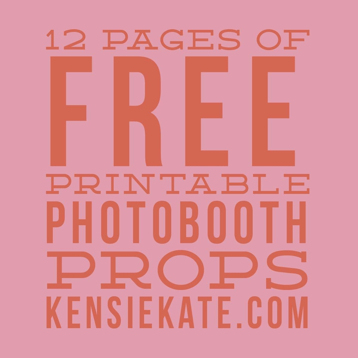 12 Pages Of Free Printable Photobooth Props | An Honorable Maid - Free Photo Booth Props Printable Pdf