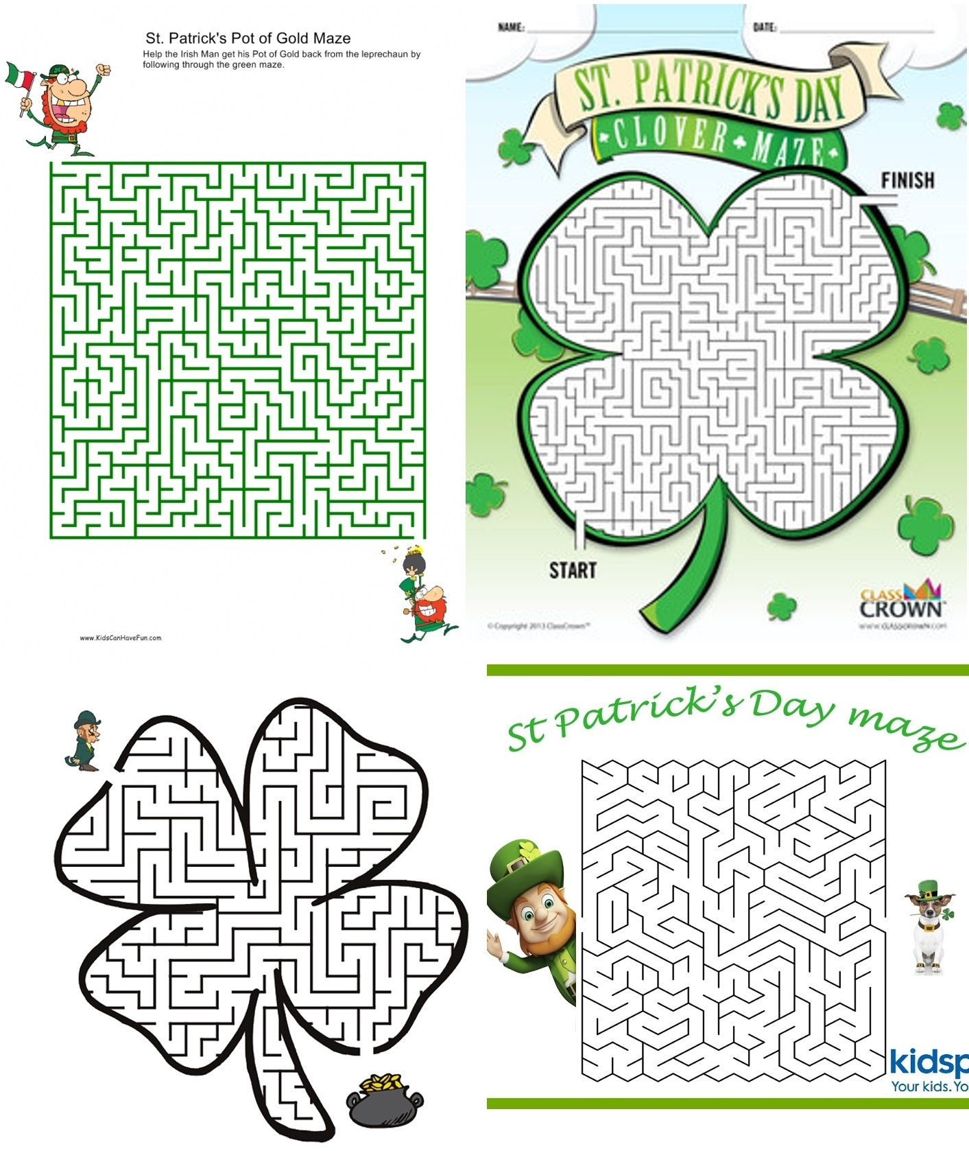 12 St. Patrick's Day Game Printables - Printables 4 Mom - Free Printable St Patrick's Day Mazes