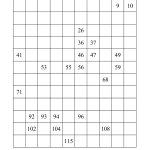 120 Chart Partially Filled (A)   Free Printable Hundreds Chart To 120