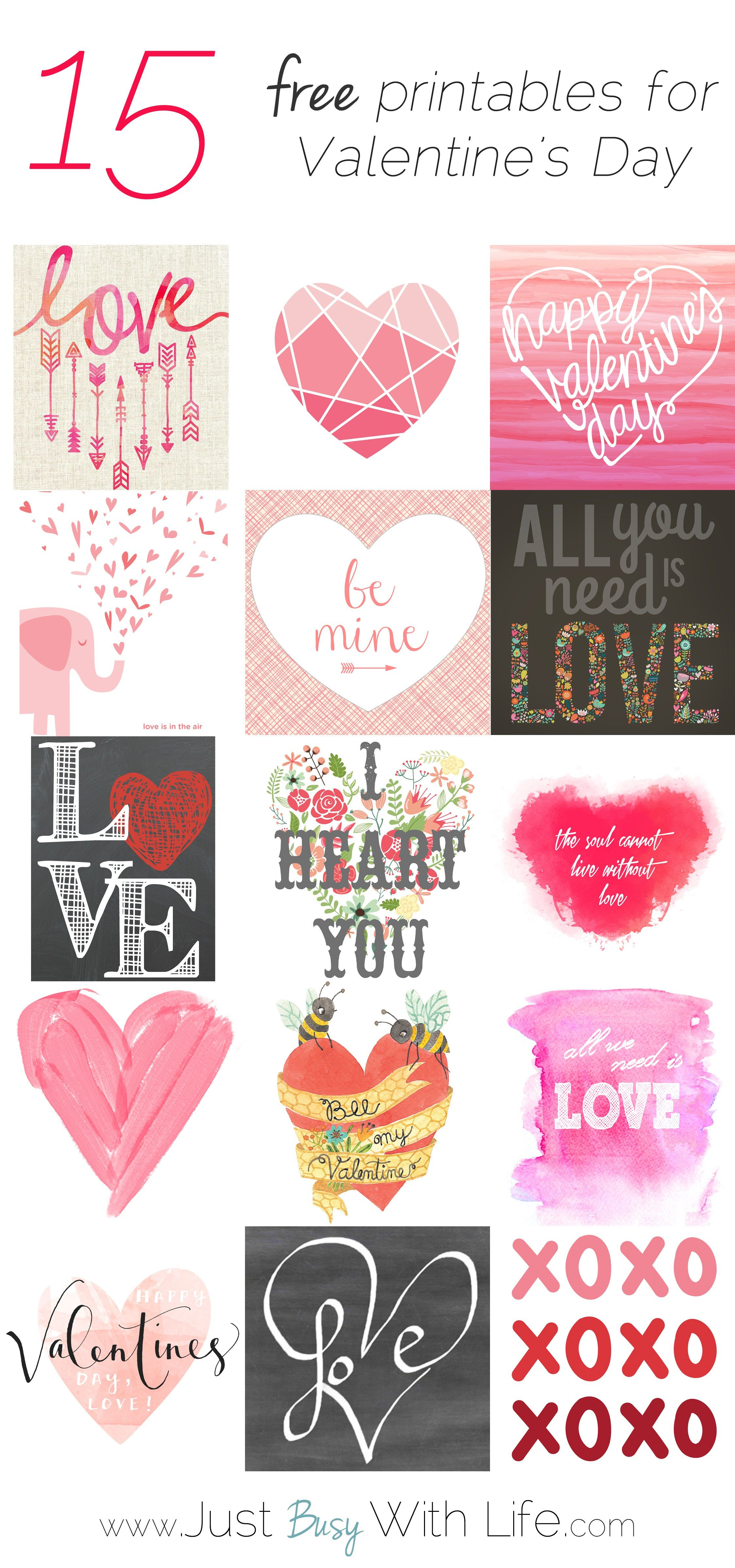 15 Free Valentine's Day Printables | Just Busy With Life | Holidays - Free Printable Valentine Decorations