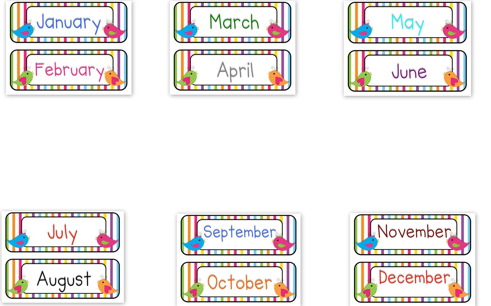 15+ Months Of The Year Clipart | Clipartlook - Free Printable Months Of The Year Labels