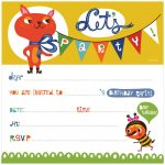 17 Free, Printable Birthday Invitations   Free Printable Toddler Birthday Invitations