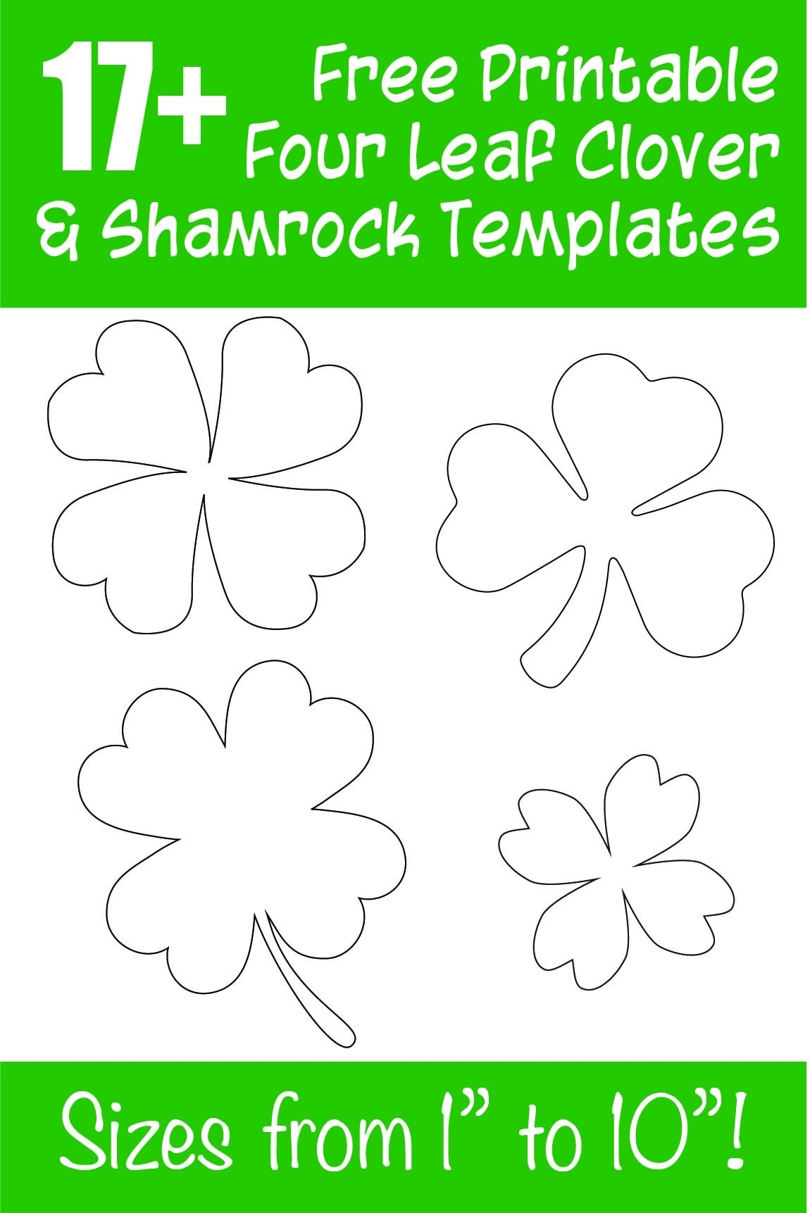 17+ Free Printable Four Leaf Clover & Shamrock Templates - The - Shamrock Template Free Printable