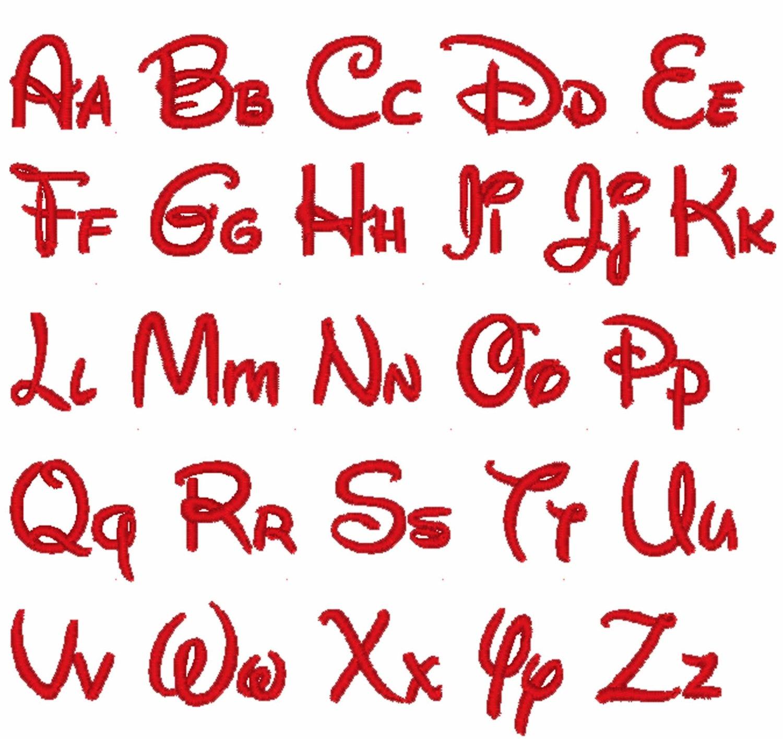 18 Disney Letters Font Images - Disney Letter Font Embroidery, Walt - Free Printable Disney Alphabet Letters
