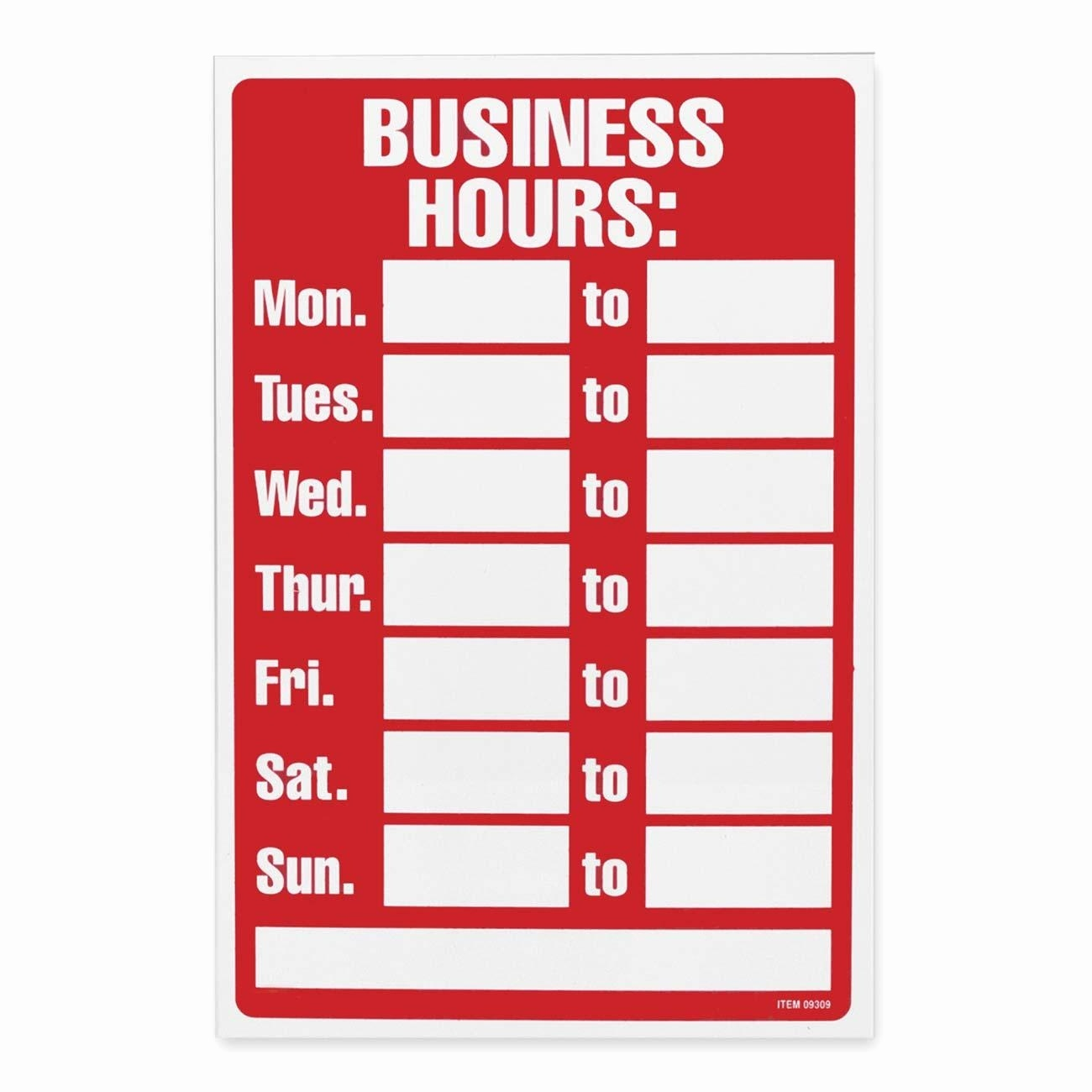 20 Free Printable Business Signs – Guiaubuntupt - Free Printable Business Hours Sign