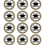 2019 Graduation Themed Cupcake Topper | Graduation Cakes   Free Printable Graduation Cupcake Toppers