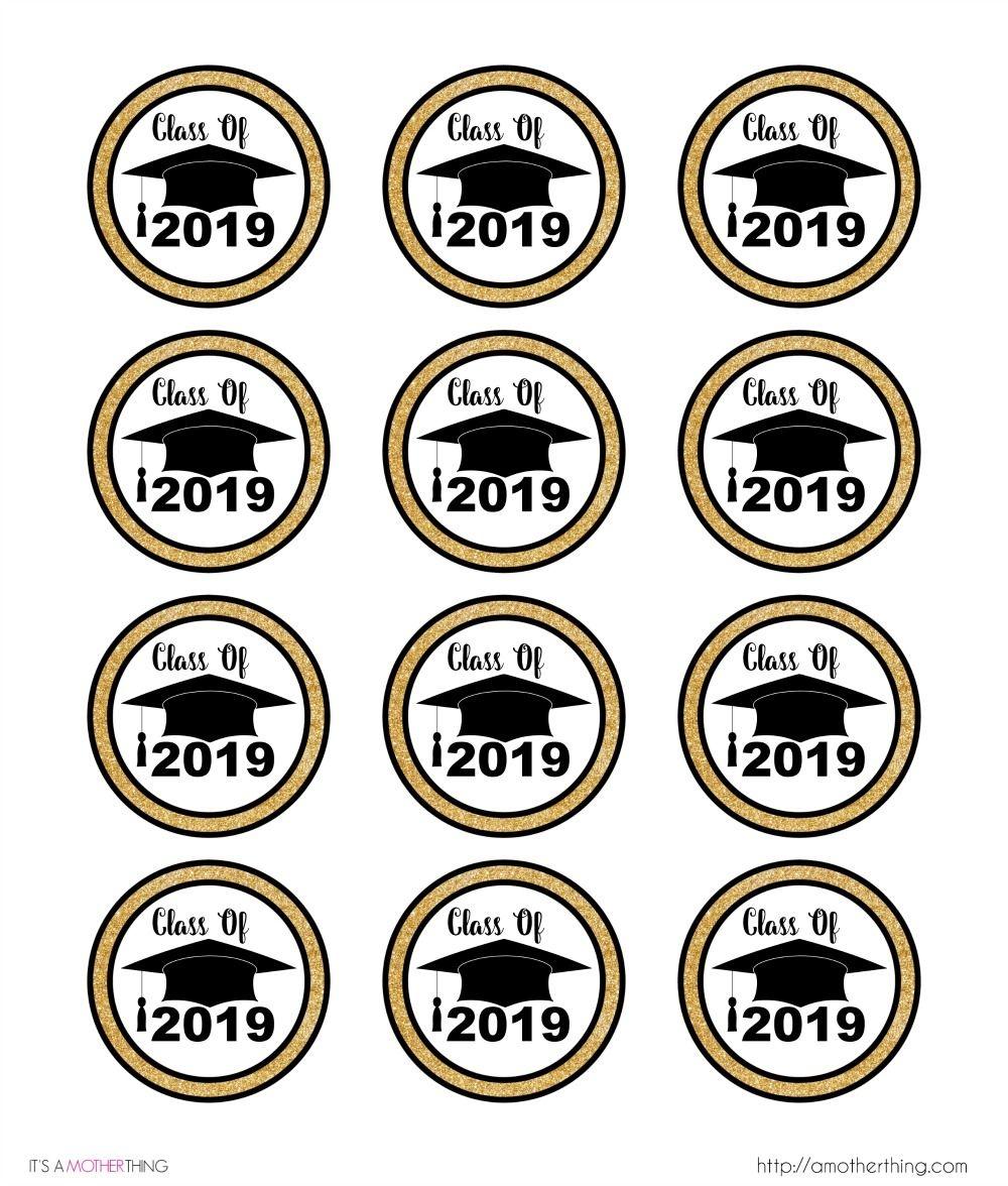 2019 Graduation Themed Cupcake Topper | Graduation Cakes - Free Printable Graduation Cupcake Toppers