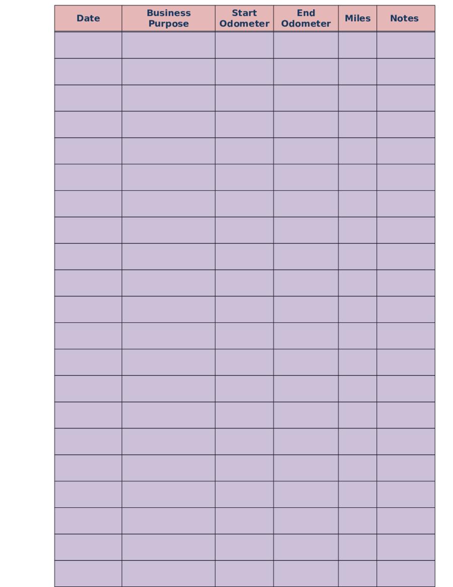 2019 Mileage Log - Fillable, Printable Pdf & Forms | Handypdf - Free Printable Mileage Log