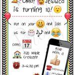 23 Free Printable Birthday Invitations (Downloadable | Emoji Party   Free Printable Birthday Invitations Pinterest