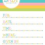 25 Adorable Free Printable Baby Shower Invitations   Free Printable Baby Shower Invitations