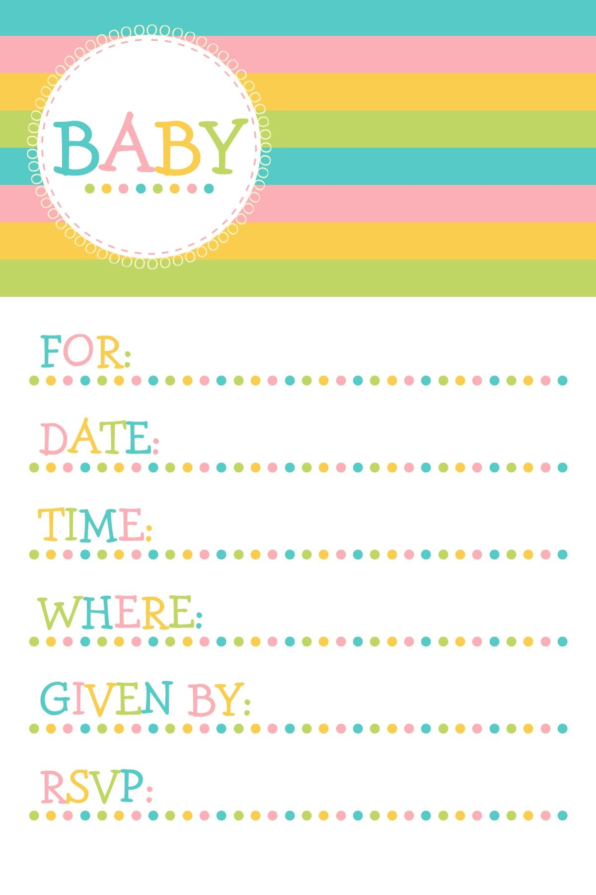 25 Adorable Free Printable Baby Shower Invitations - Free Printable Baby Shower Invitations