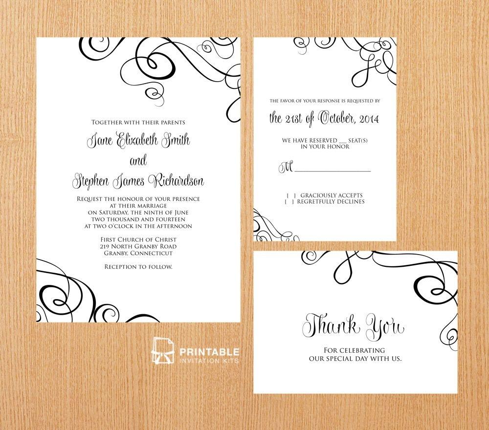 25 Free Printable Wedding Invitations - Free Printable Rsvp Cards
