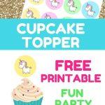27 Sparkling Fun Unicorn Party Ideas | Unicorn Party Ideas | Party   Free Printable Unicorn Cupcake Toppers