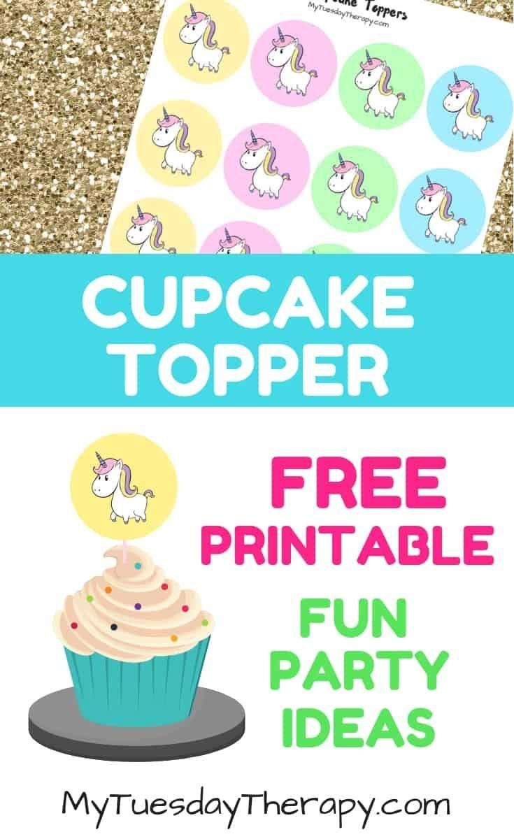 27 Sparkling Fun Unicorn Party Ideas | Unicorn Party Ideas | Party - Free Printable Unicorn Cupcake Toppers