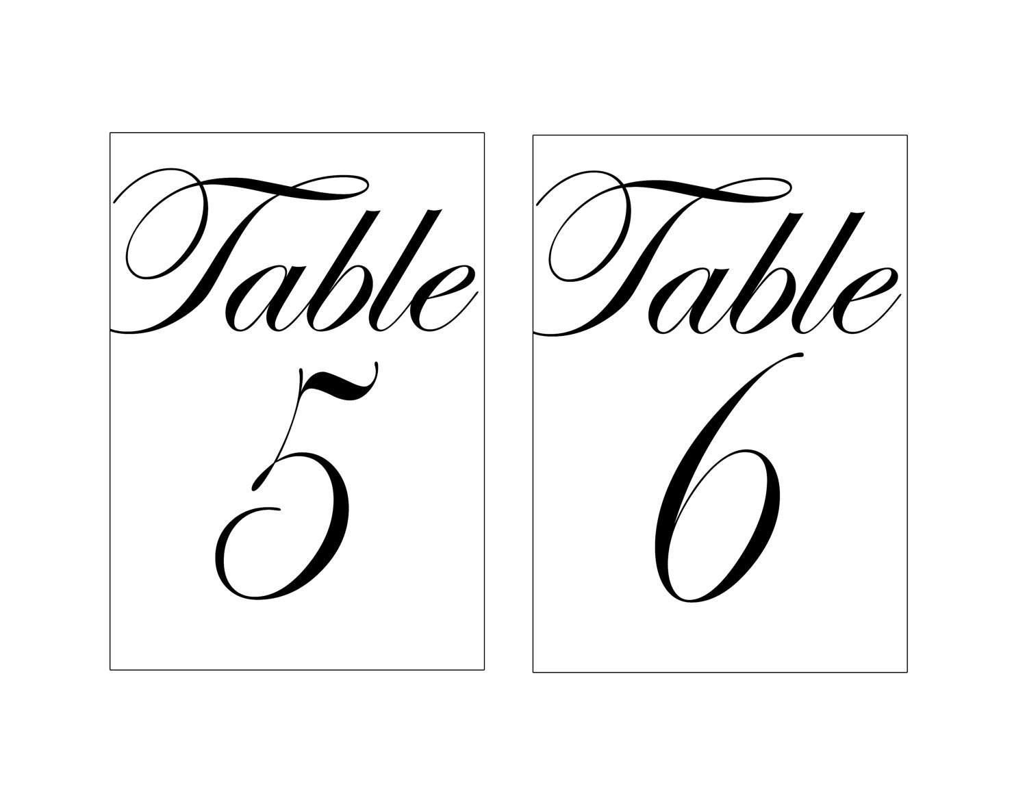 28 Elegant Printable Table Numbers   Kittybabylove - Free Printable Table Numbers