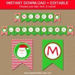 29 Images Of Christmas Free Printable Banners Template | Helmettown   Free Printable Christmas Banner