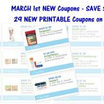 29 New Printable Coupons ~ March 1St New Coupons!   Acne Free Coupons Printable