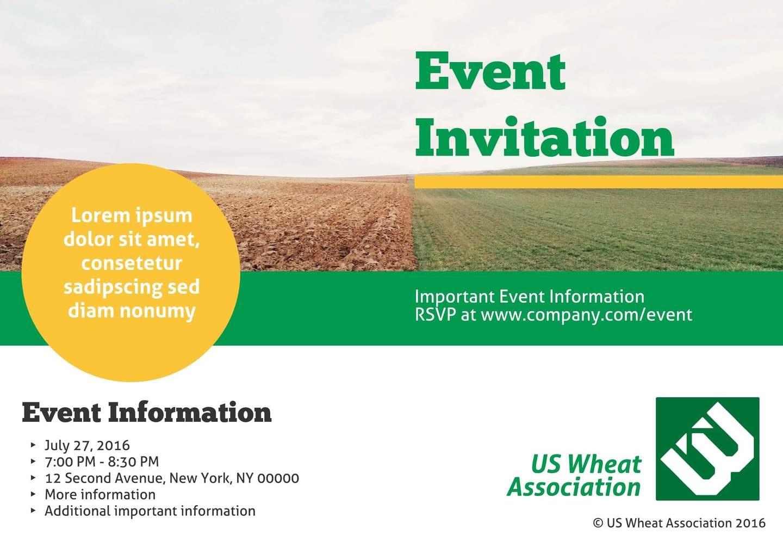 3 Free Event Invitation Templates & Examples - Lucidpress - Free Printable Event Invitations