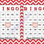 30 Happy Valentines Day Bingo Cards  Okprintables On Zibbet   Free   Free Printable Bingo Cards Random Numbers
