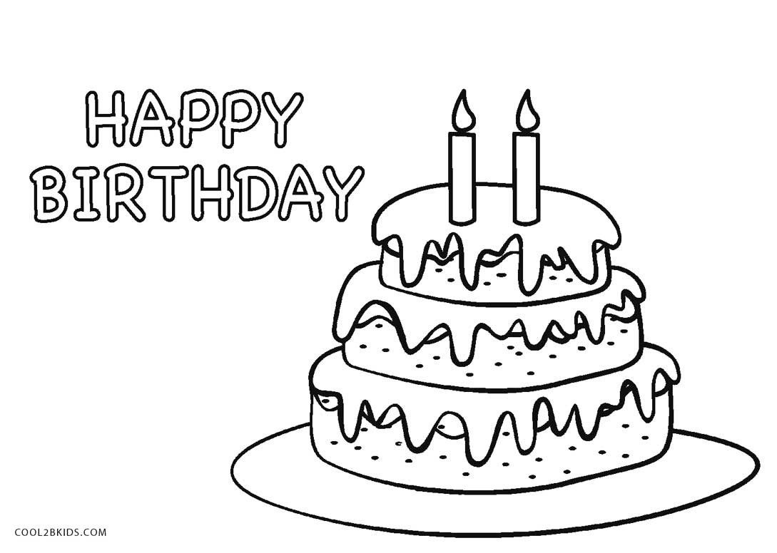 30+ Marvelous Photo Of Birthday Cake Coloring Pages | Birthday Cake - Free Printable Pictures Of Birthday Cakes
