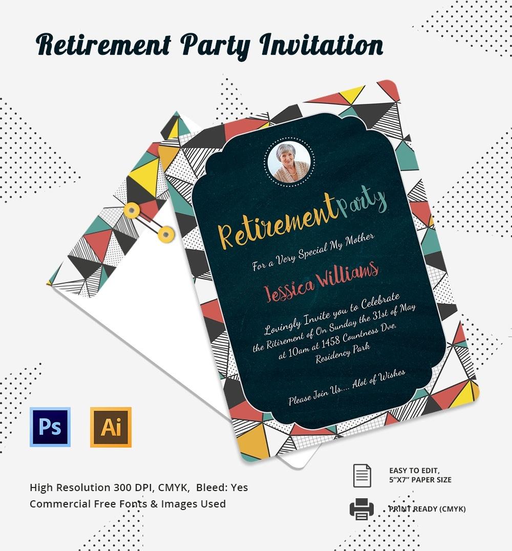 30+ Retirement Invitation Templates - Psd, Ai, Word | Free & Premium - Free Printable Retirement Party Invitations