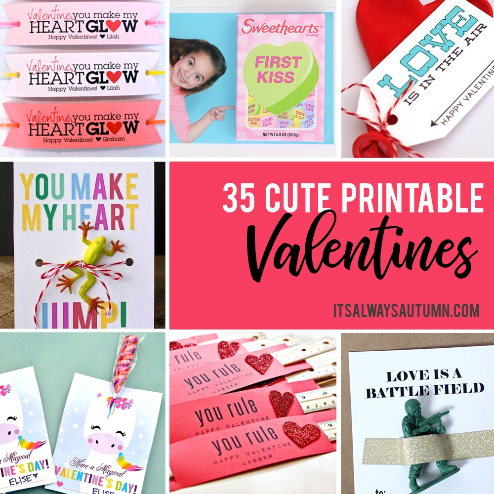 35 Adorable Diy Valentine's Cards To Print At Home For Your Kids - Free Printable Valentine Graphics