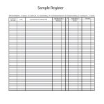 37 Checkbook Register Templates [100% Free, Printable] ᐅ Template Lab   Free Printable Check Register