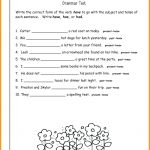 3Rd Grade English Worksheets Grade Worksheets Fresh Free Printable   Free Printable Third Grade Grammar Worksheets