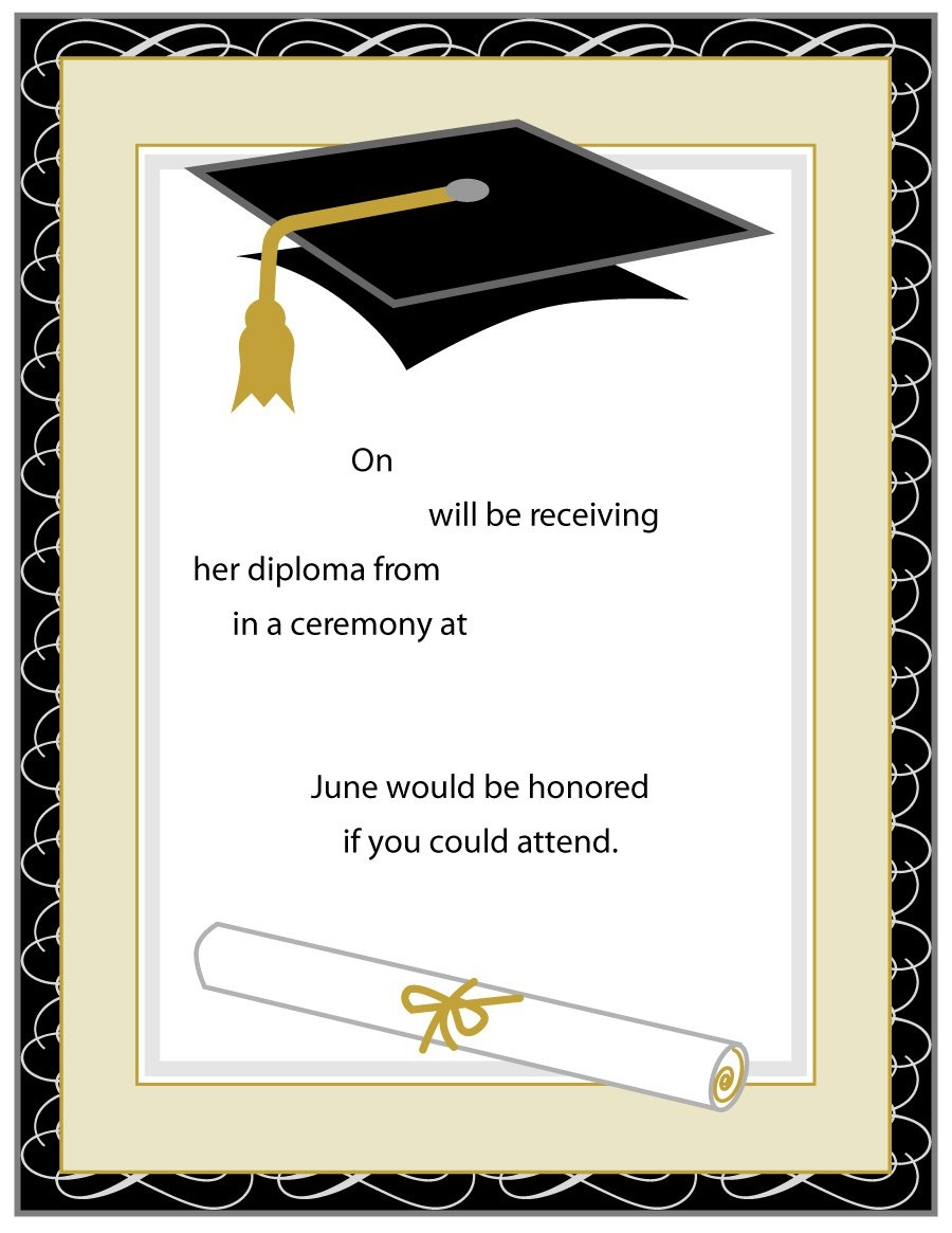 40+ Free Graduation Invitation Templates ᐅ Template Lab - Free Printable Graduation Dinner Invitations