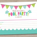 45 Pool Party Invitations | Kittybabylove   Free Printable Pool Party Invitation Cards