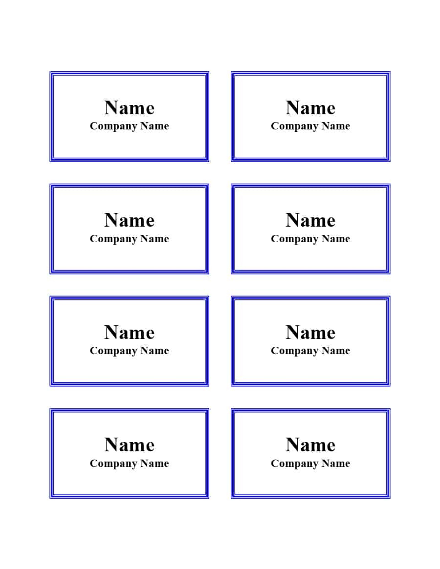 47 Free Name Tag + Badge Templates ᐅ Template Lab - Name Tag Template Free Printable